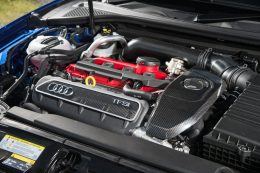 Audi RS3 Sportback road test review for Talk Business Magazine by CHAC car leasing - 2.5 engine