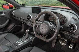 Audi RS3 Sportback road test review for Talk Business Magazine by CHAC car leasing - interior