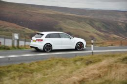 Audi RS3 Sportback road test review for Talk Business Magazine by CHAC car leasing - side2
