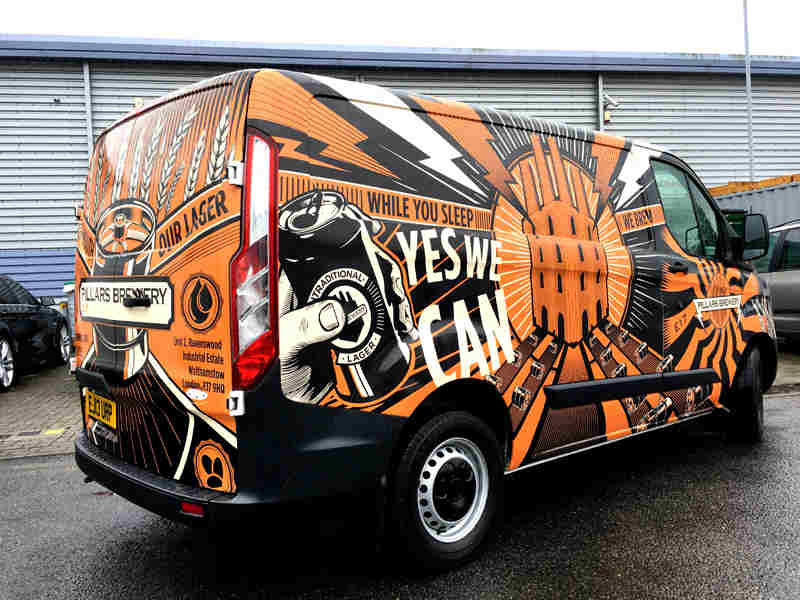 7aa801435f That s a wrap – business vans opting or vinyl advertising
