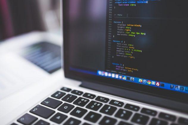 freelance web developer computer screen