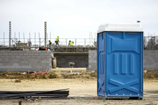 portable toilet construction