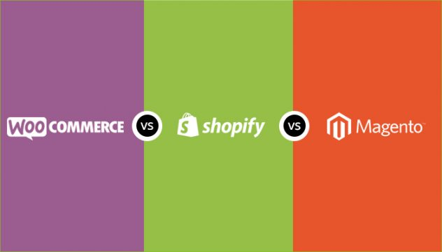 compare WooCommerce vs Shopify vs Magento ecommerce platform