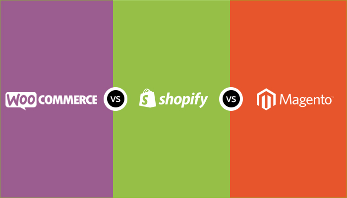 compare WooCommerce vs Shopify vs Magento